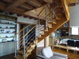 Menuiseries intérieures - Escalier bois / alu
